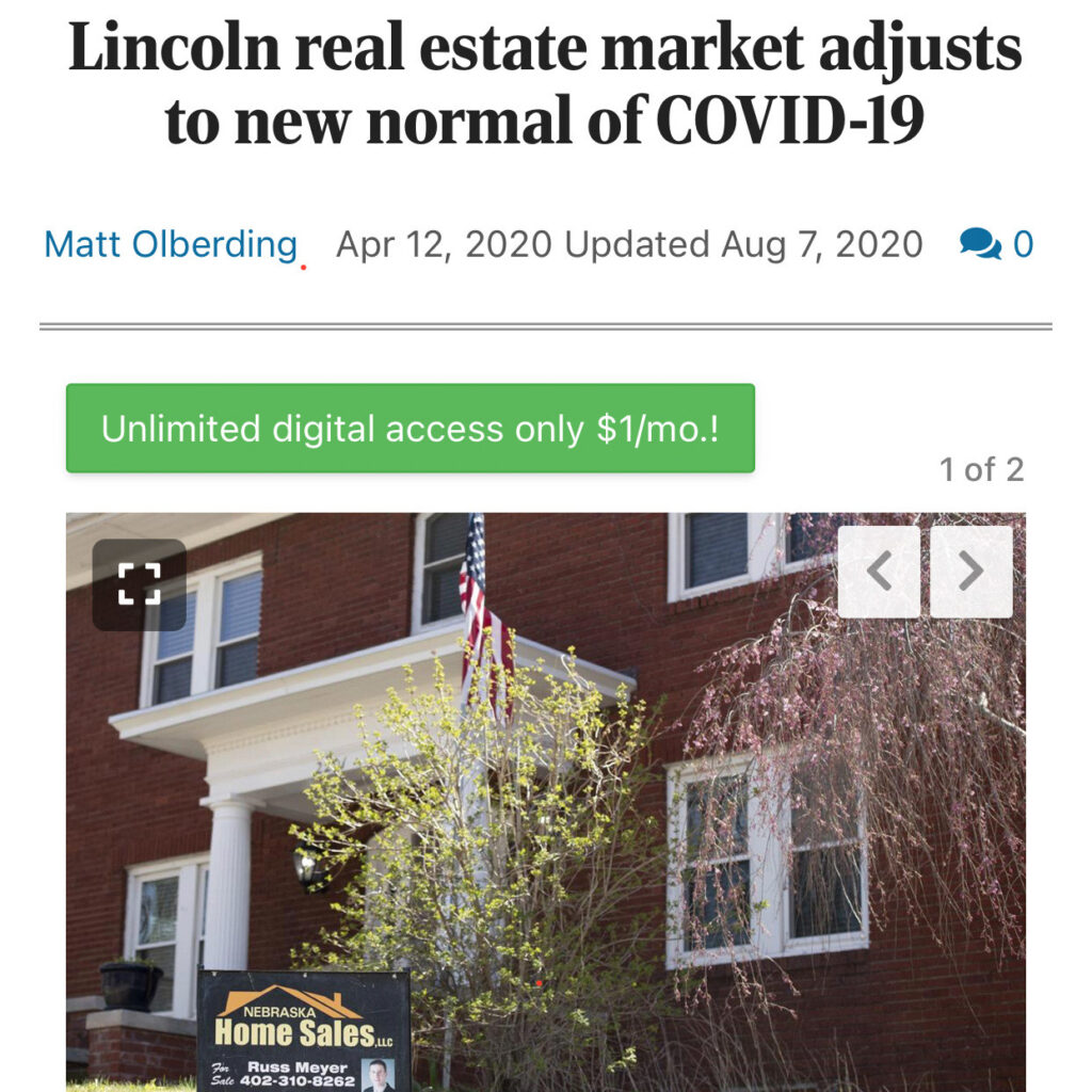 Lincoln Real Estate Adjust to Covid Featuring Tyler Irons